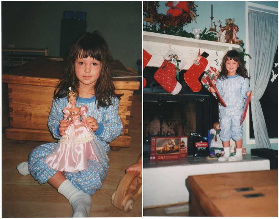 Alora in Kindergarten during christmas break.