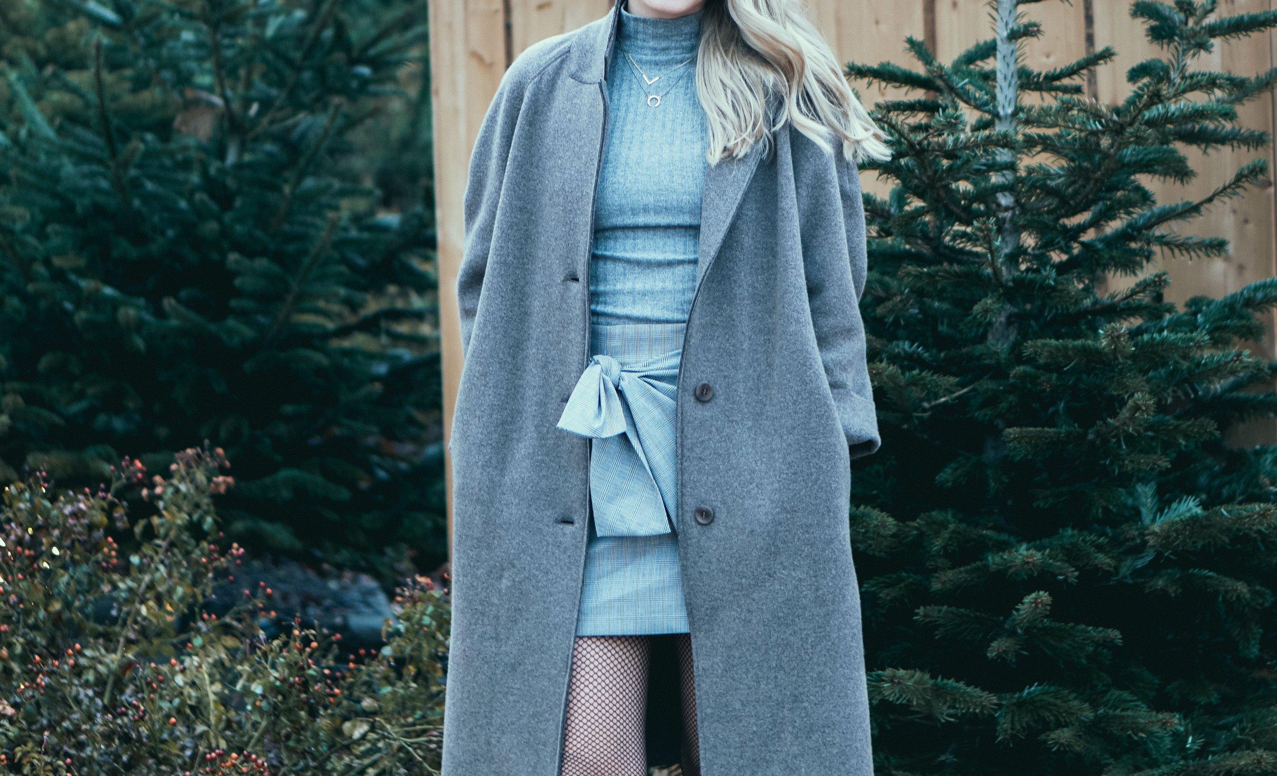 Holiday fashion outfit closeup