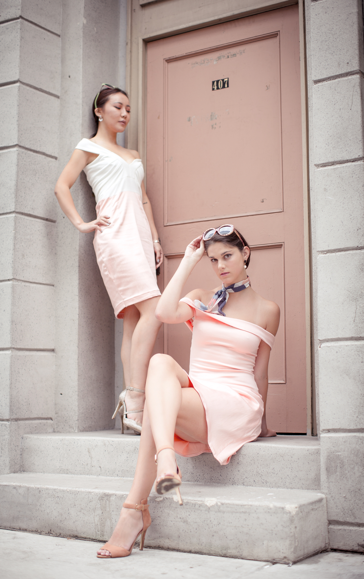 Pink Designer's Dress Editorial Photography