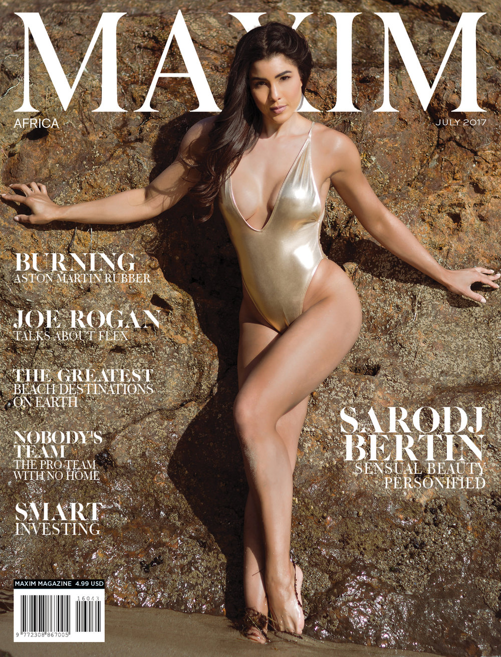 Sarodj Bertin by Dali Ma for Maxim Africa Cover
