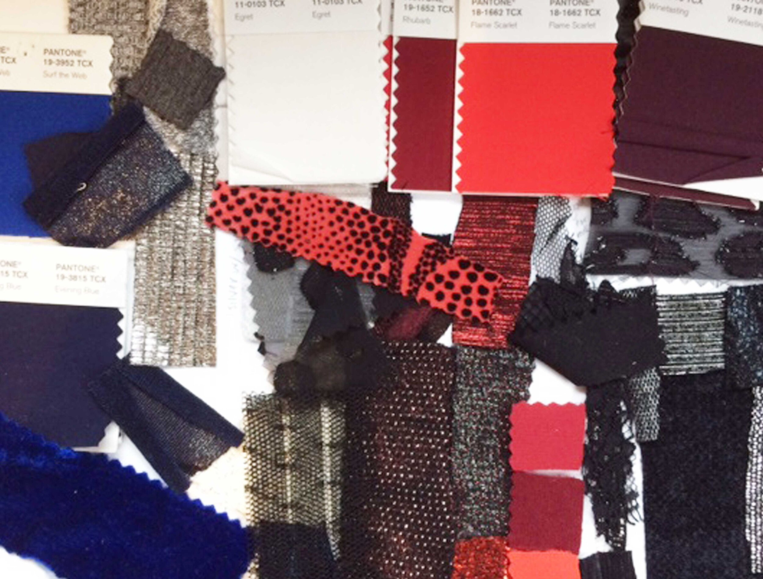 Photo of color and fabric research