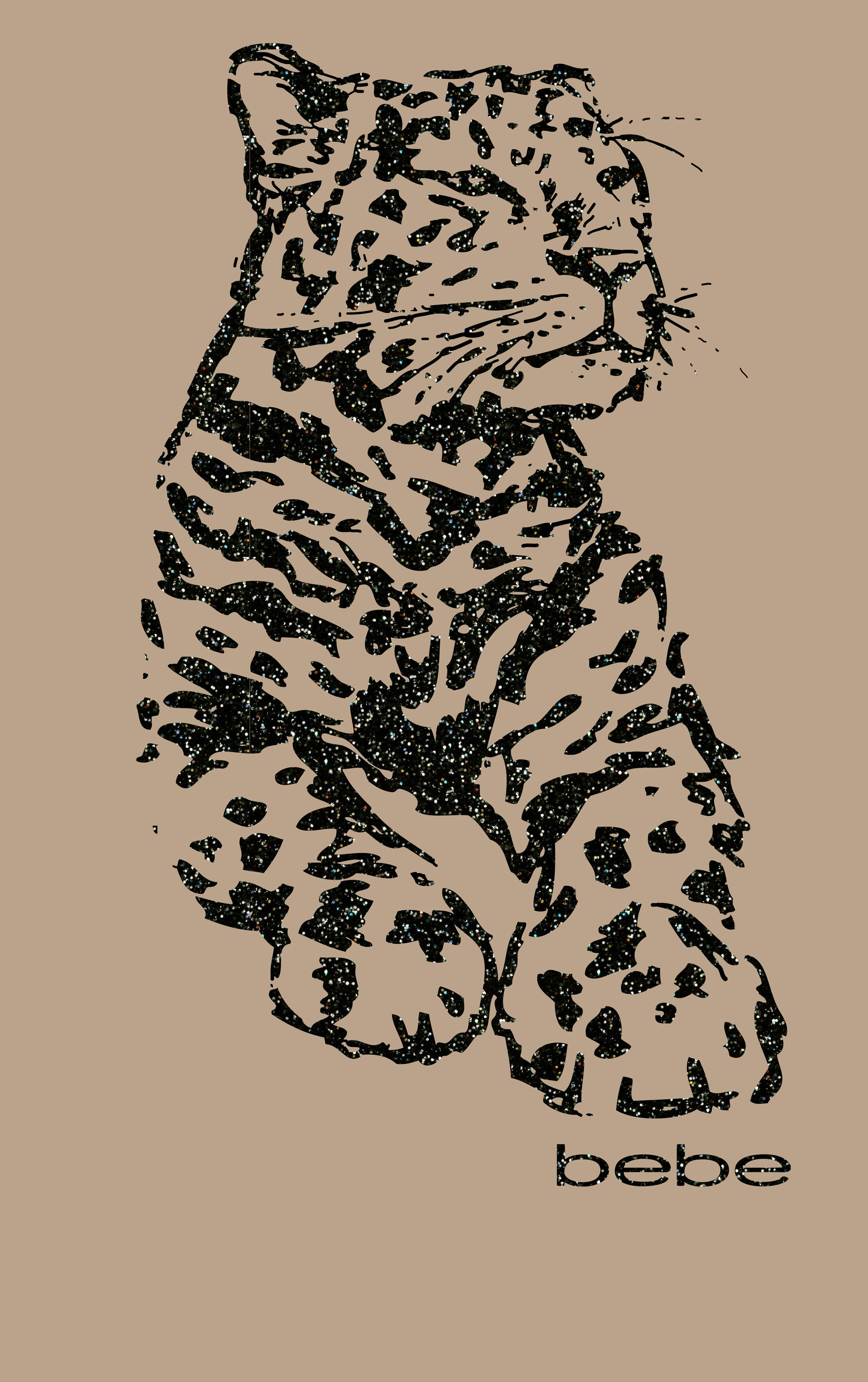 Graphic leopard I created for Bebe