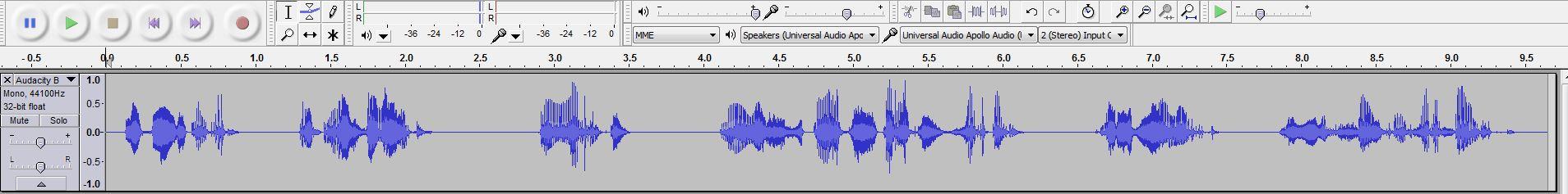 Audacity Voice Over Raw Audio Recording