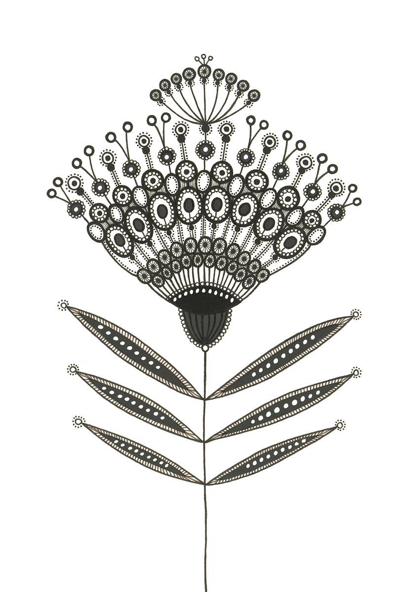 Blumengarten illustration