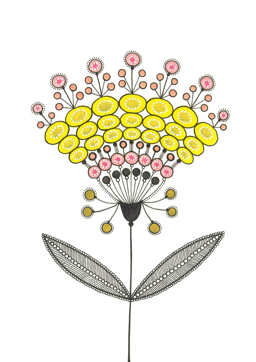 Blumengarten illustration 'Fruehling Gruen'