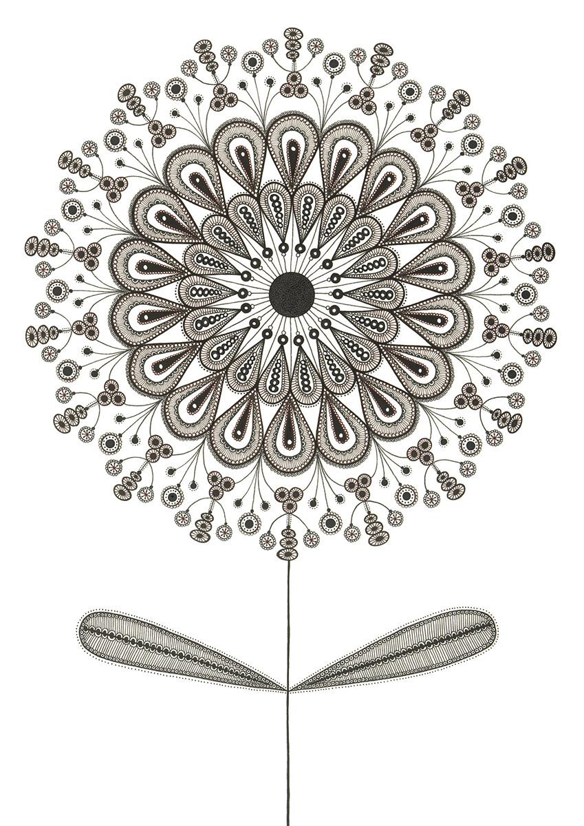 Blumengarten illustration 'Morgen'