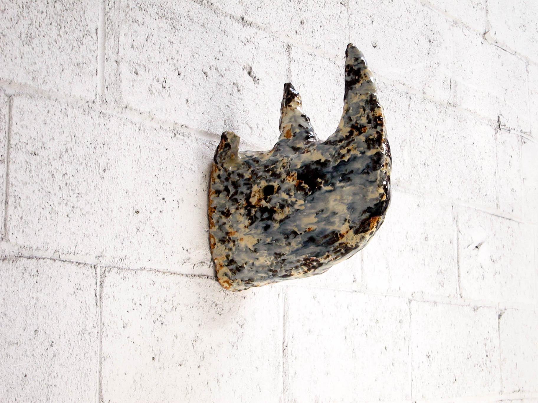 Rhino,  2015   Glaze and fired ceramic   20 x 28 x 45 cm.