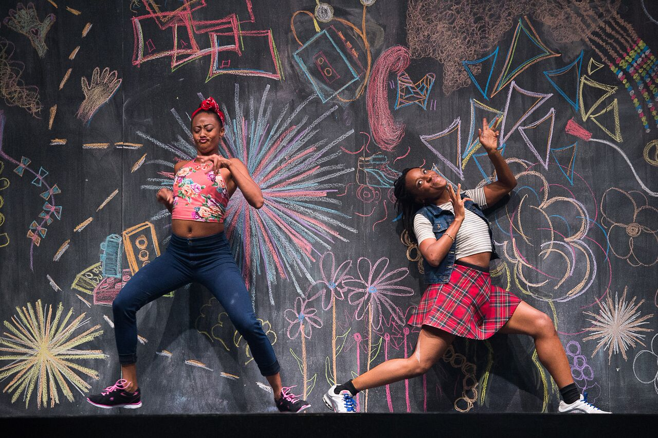 From BLACK GIRL: Linguistic Play. Photo by Christopher Duggan. Dancers: Fanta Fraser & Beatrice Capote.