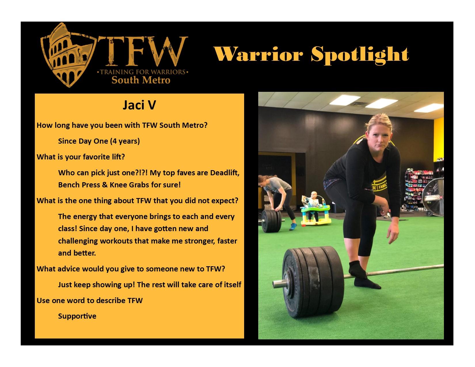 TFW South Metro Warrior, Jaci