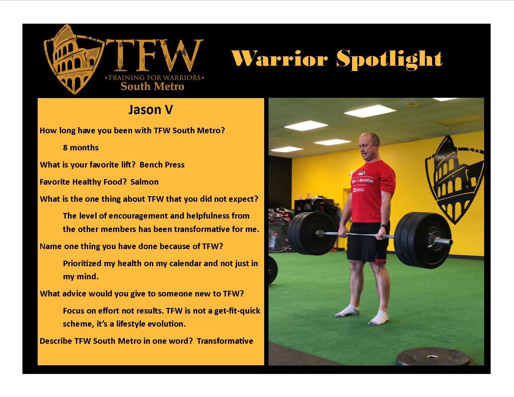 TFW South Metro Warrior, Jason
