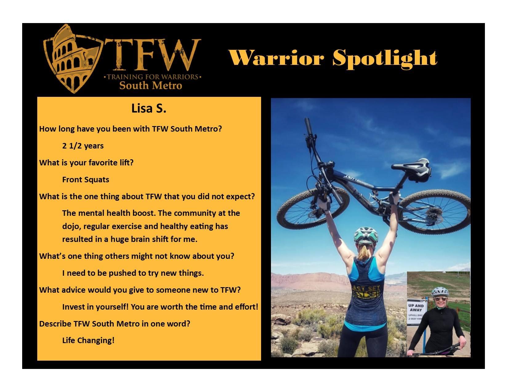 TFW South Metro Warrior, Lisa