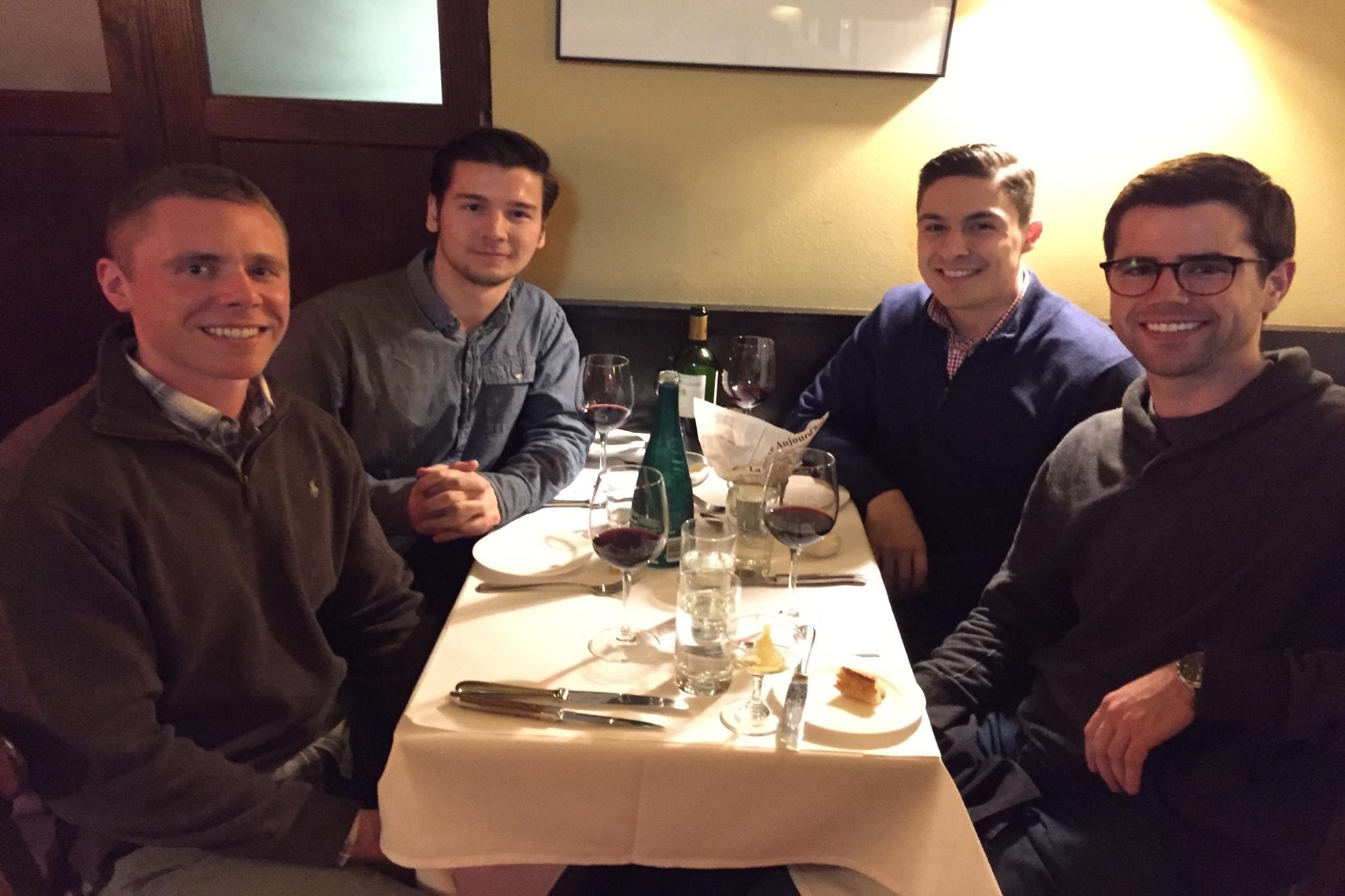 From left to right: Joe, Luke, Bryan, Regan