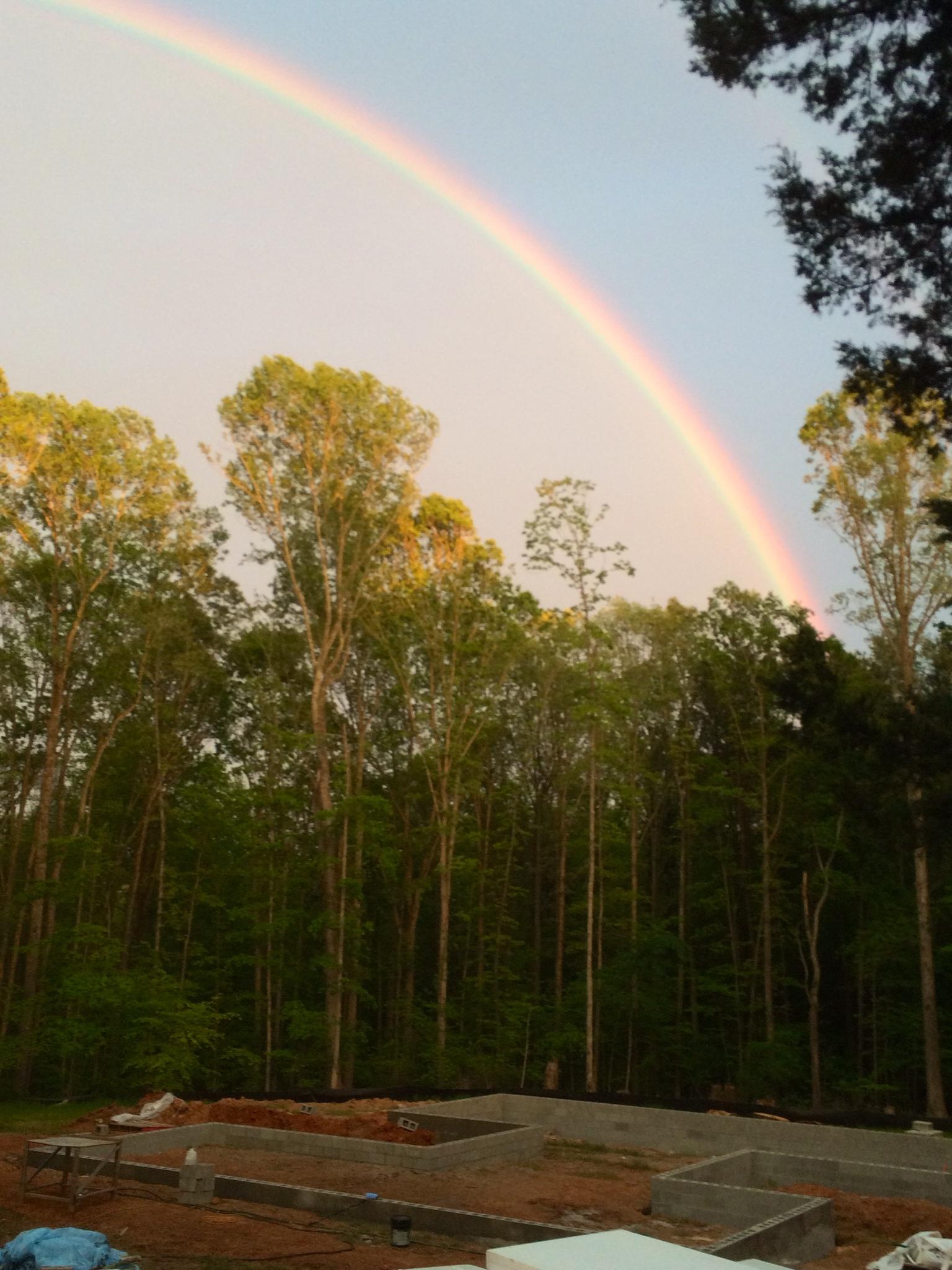 Rainbow over foundation
