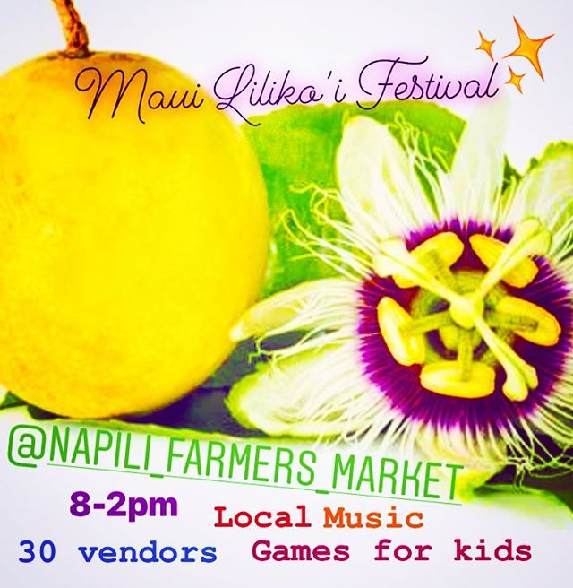 Let's celebrate Life , let's celebrate Lilikoi! 💛 Get ready for a fun community gathering. We'll have up to 30 vendors. See what kinds of goodies you'll find, so come hungry! 🤗🌼🌝⭐️🍋 # #community #gathering #maui #napili #festival #fruit #fruitfest #hawaiifarmersmarket #exoticfruit #lilikoi #fun #family #ohana
