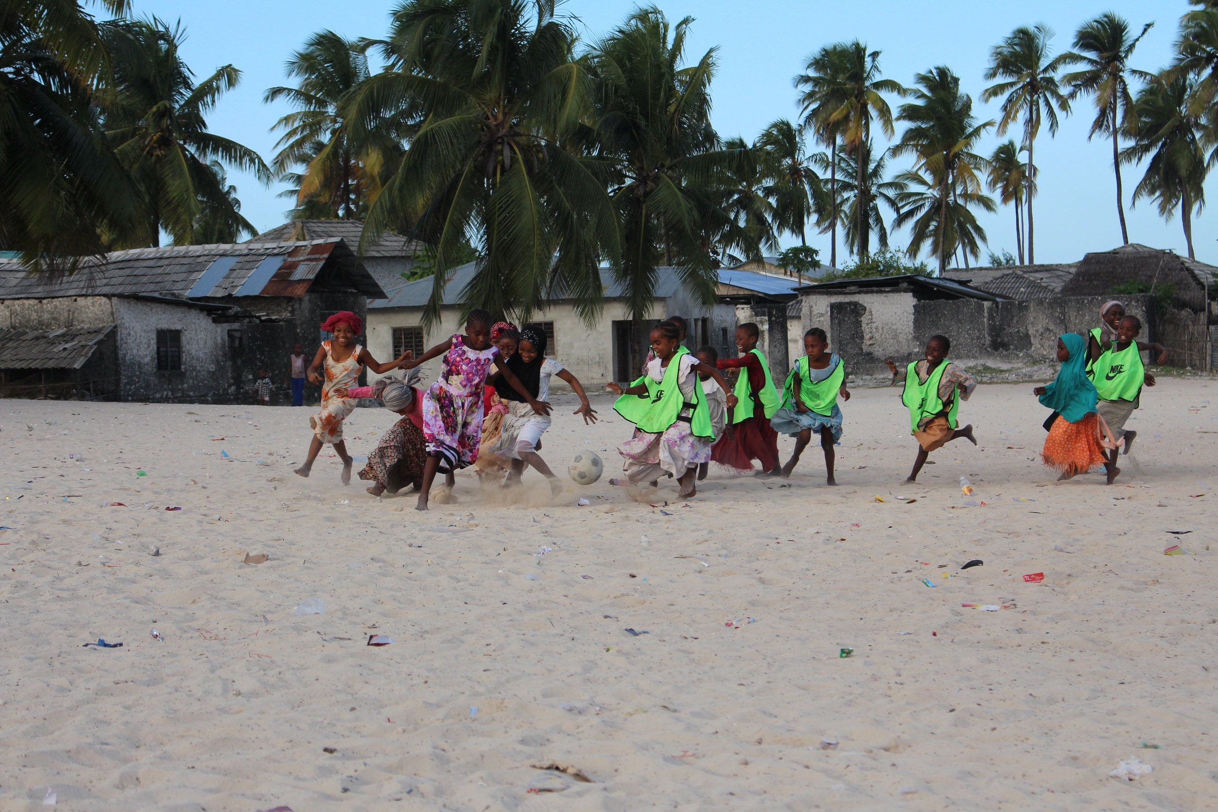 Girls scrimmage in Paje, July 2015