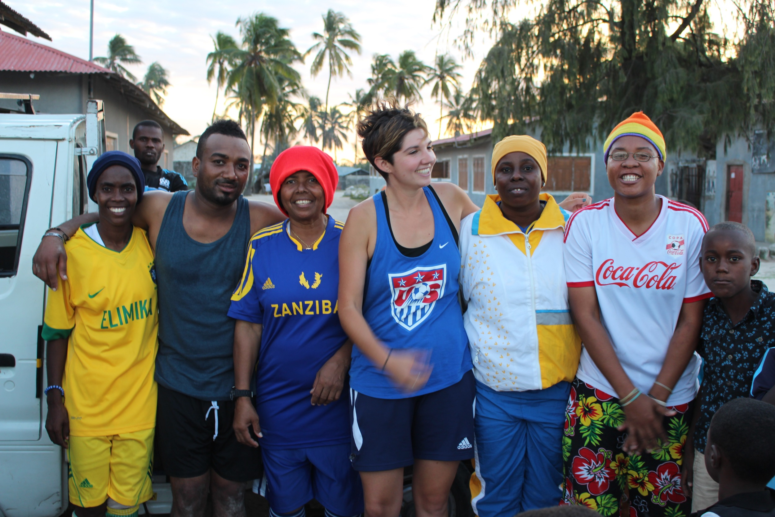 The coaches in Paje, July 2015