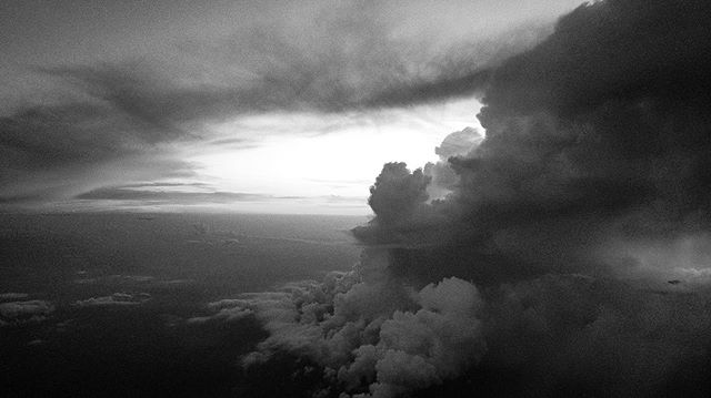 The storm, until it clears out. . . . #poetic #photography #cinematography #sky #heavens #blackandwhite #avantgarde #blackandwhitephotography #notadrone #high #clouds #storms #ocean