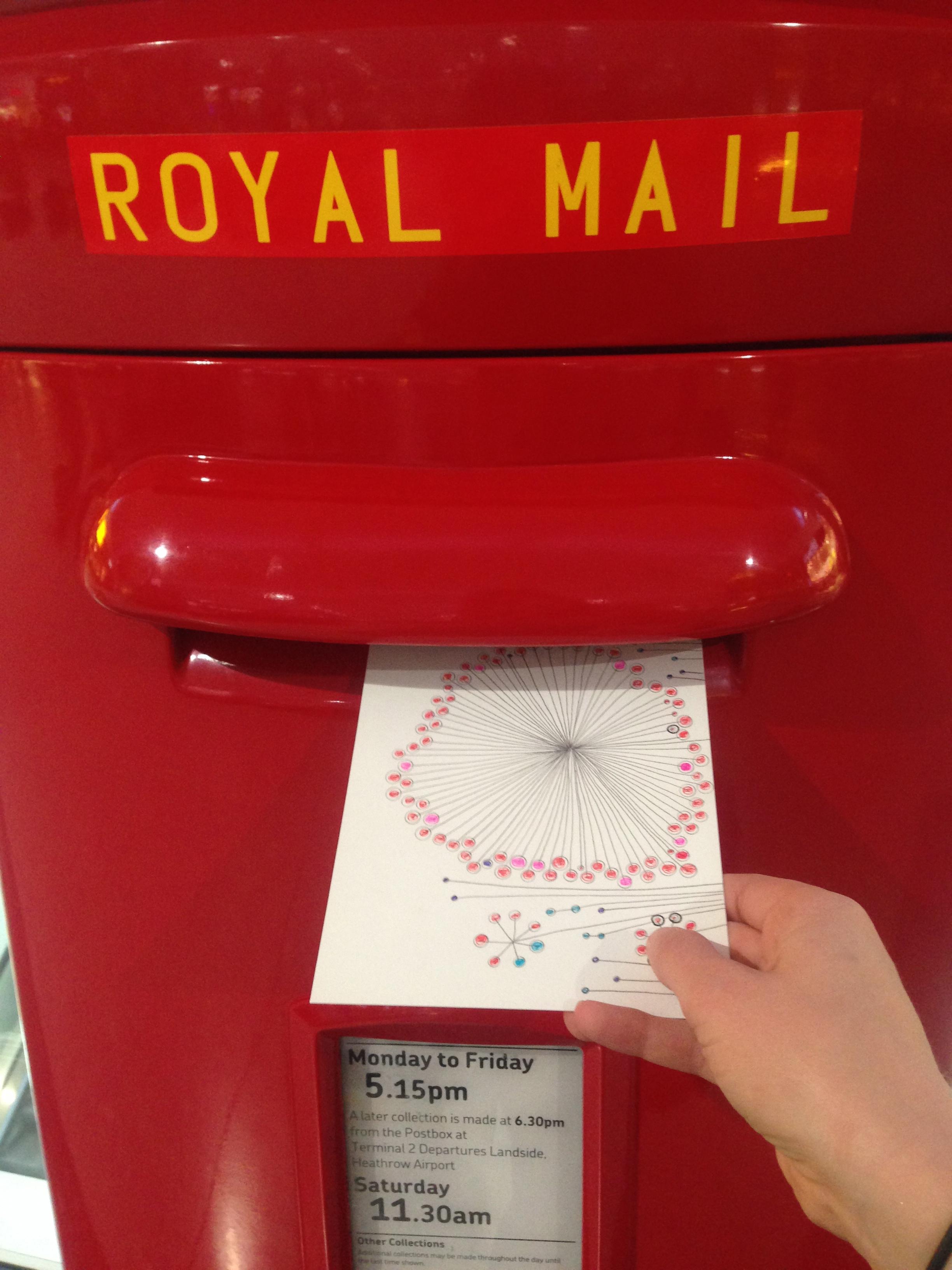 Special Heathrow postbox delivery!