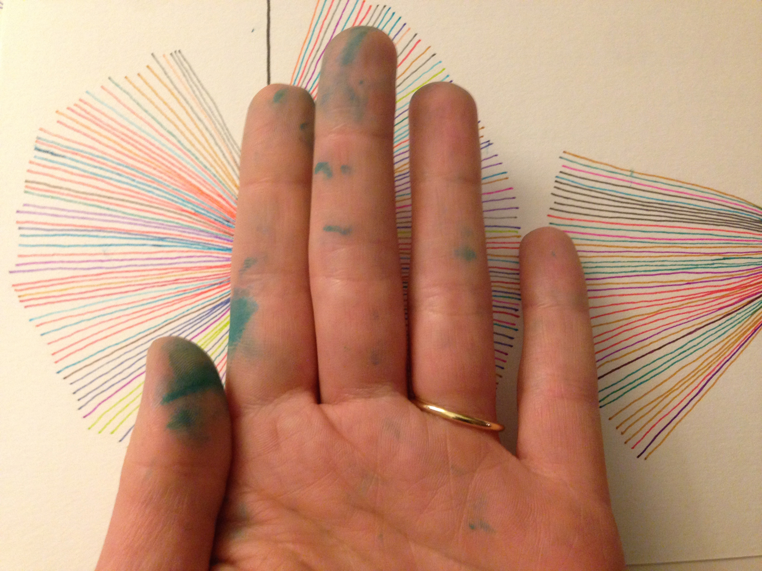 Evidence of inky fingers and general pissed-off demeanour
