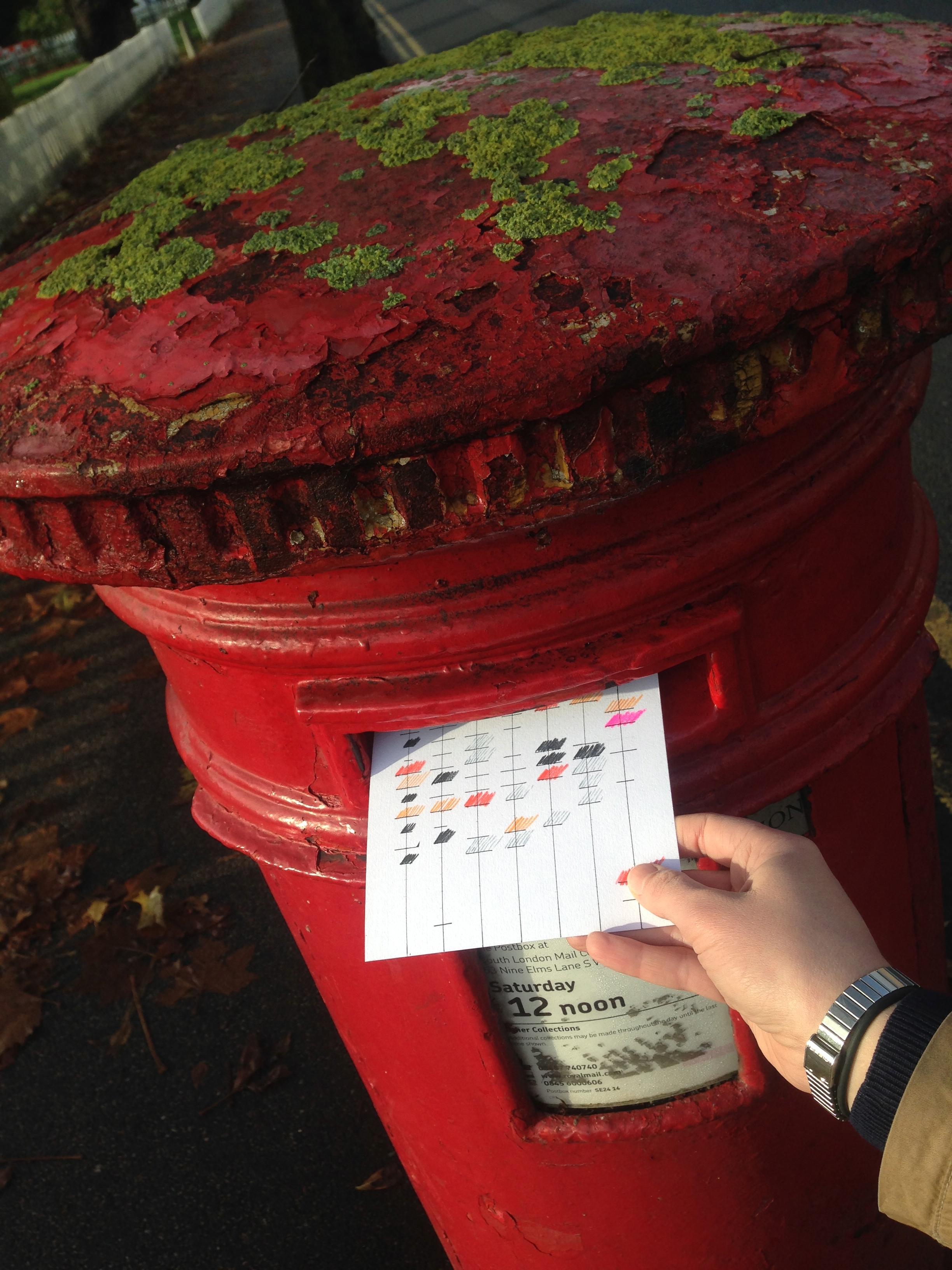 Sending Postcard #1 to its doom(I am still angry)