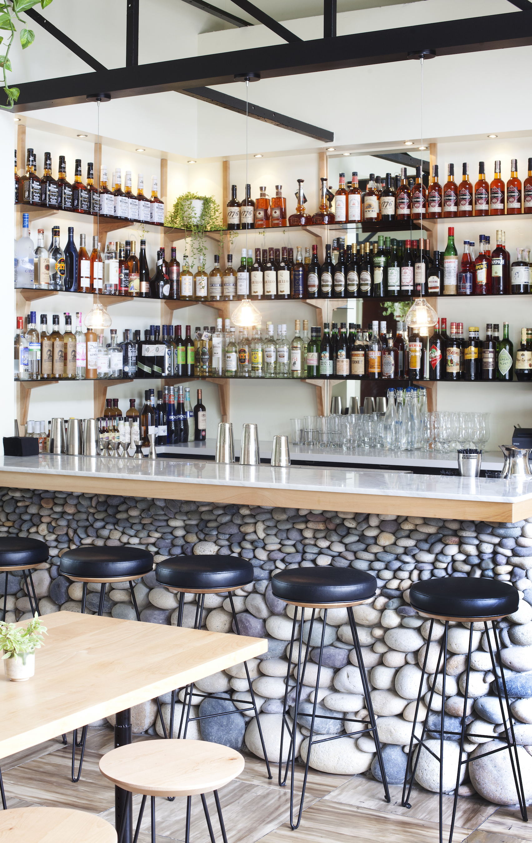 THE STACKED STONE BAR   It looks awesome