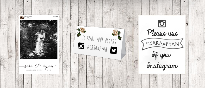 wedding instagram print layout