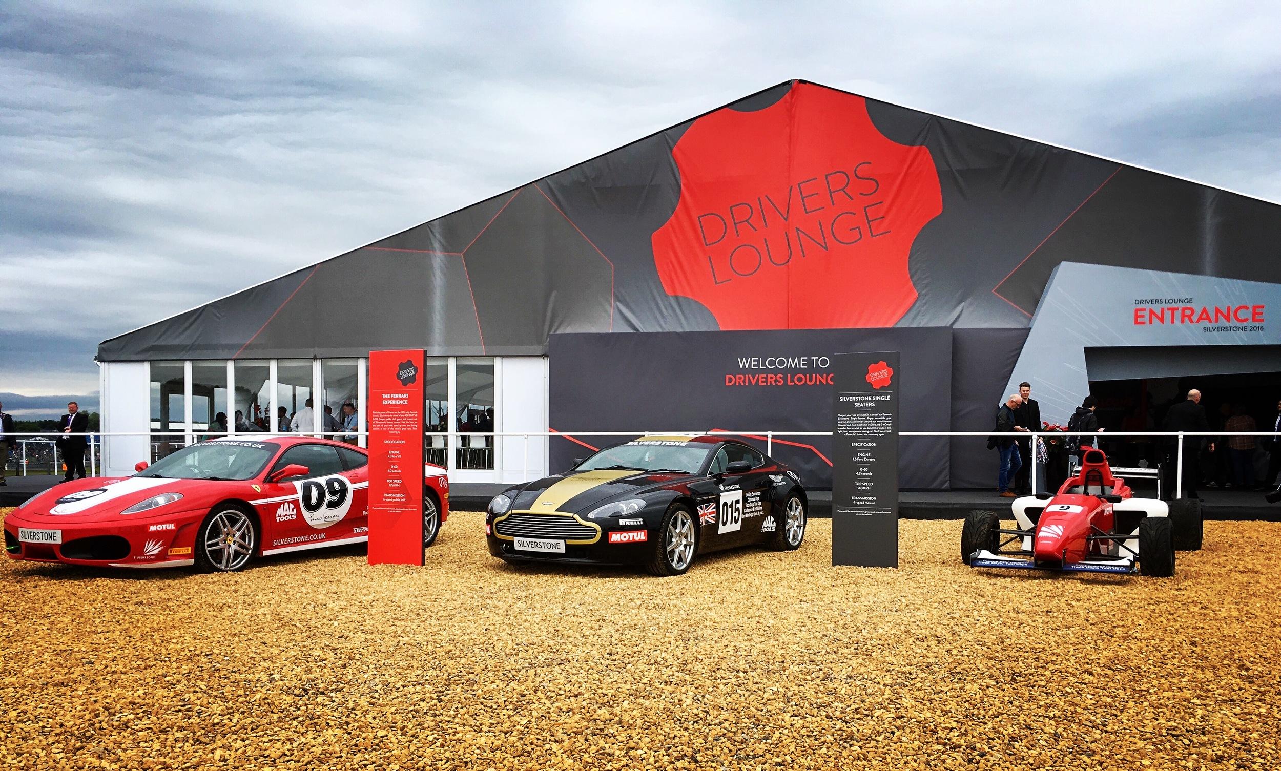 F1 drivers lounge