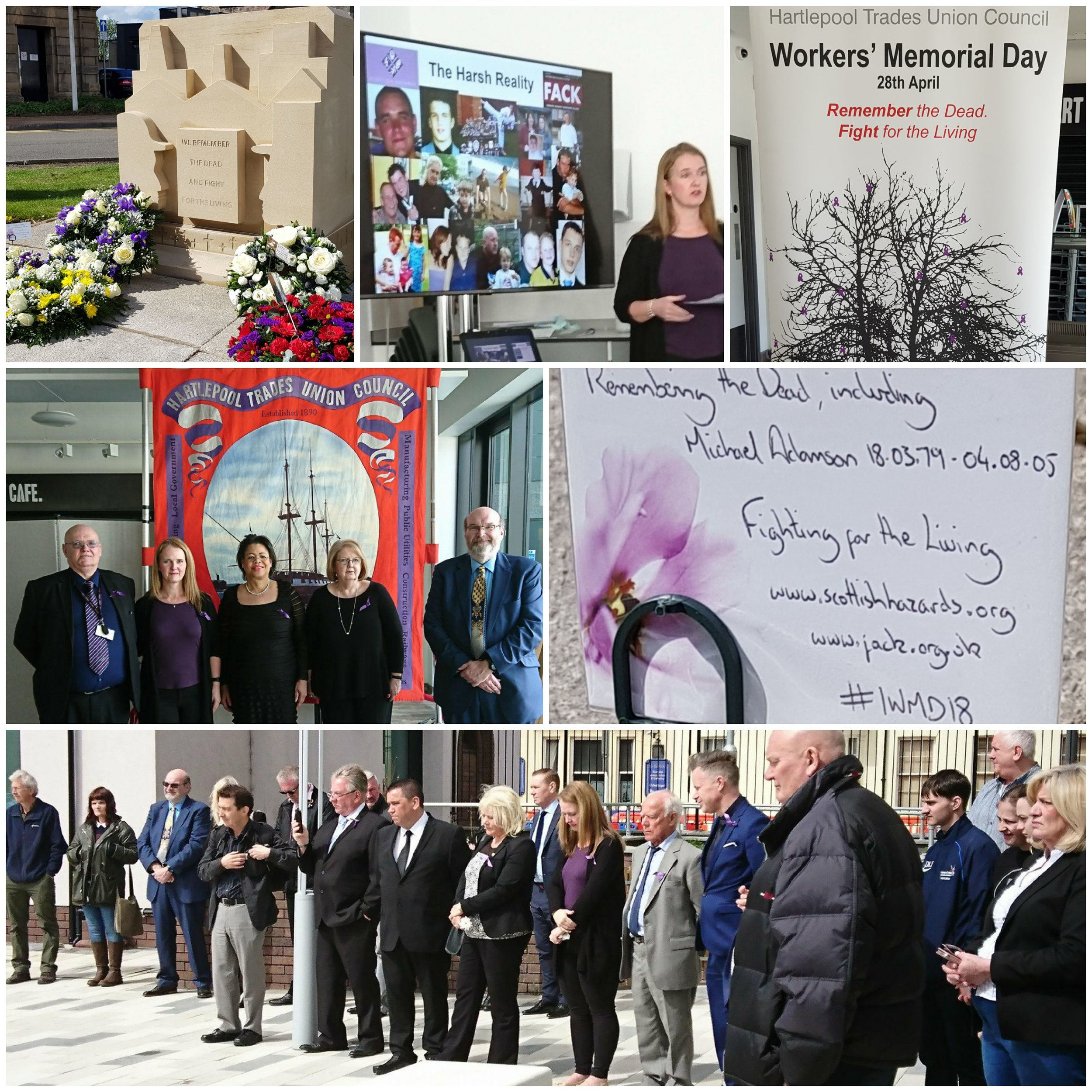 International Workers' Memorial Day event: Hartlepool 2018