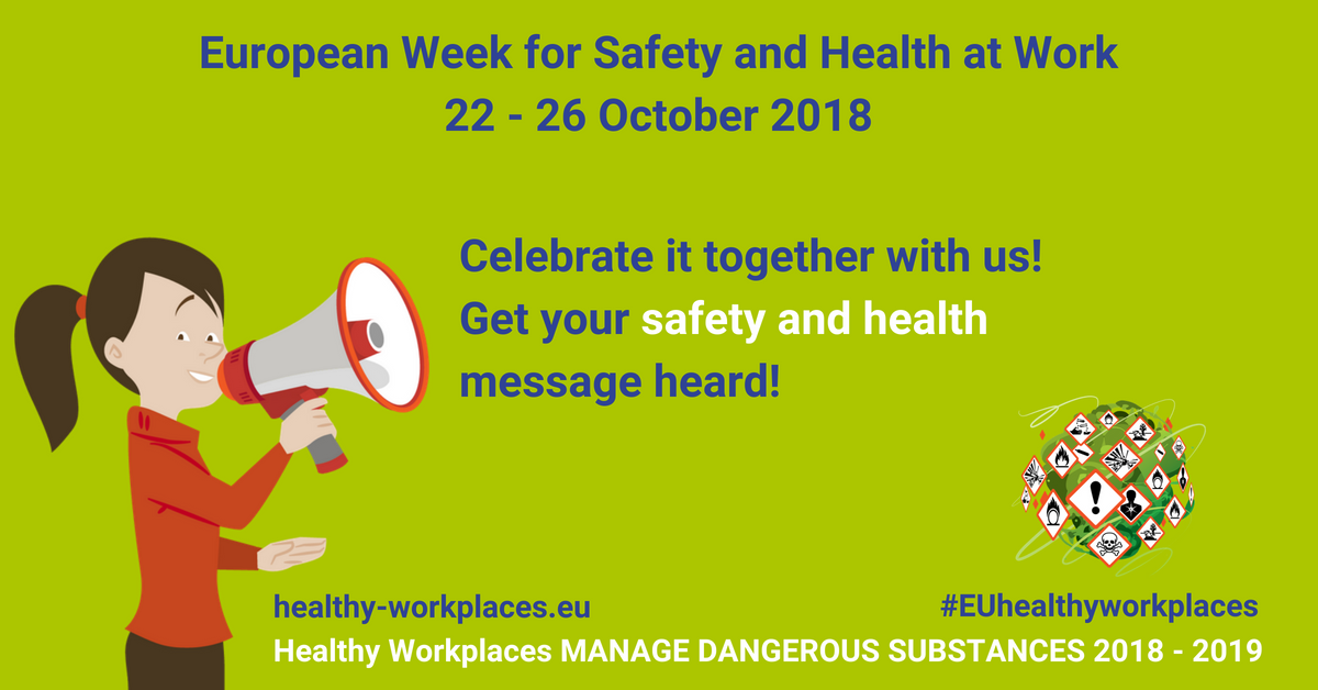 European Week for Safety and Health at Work - 22 to 26 October 2018