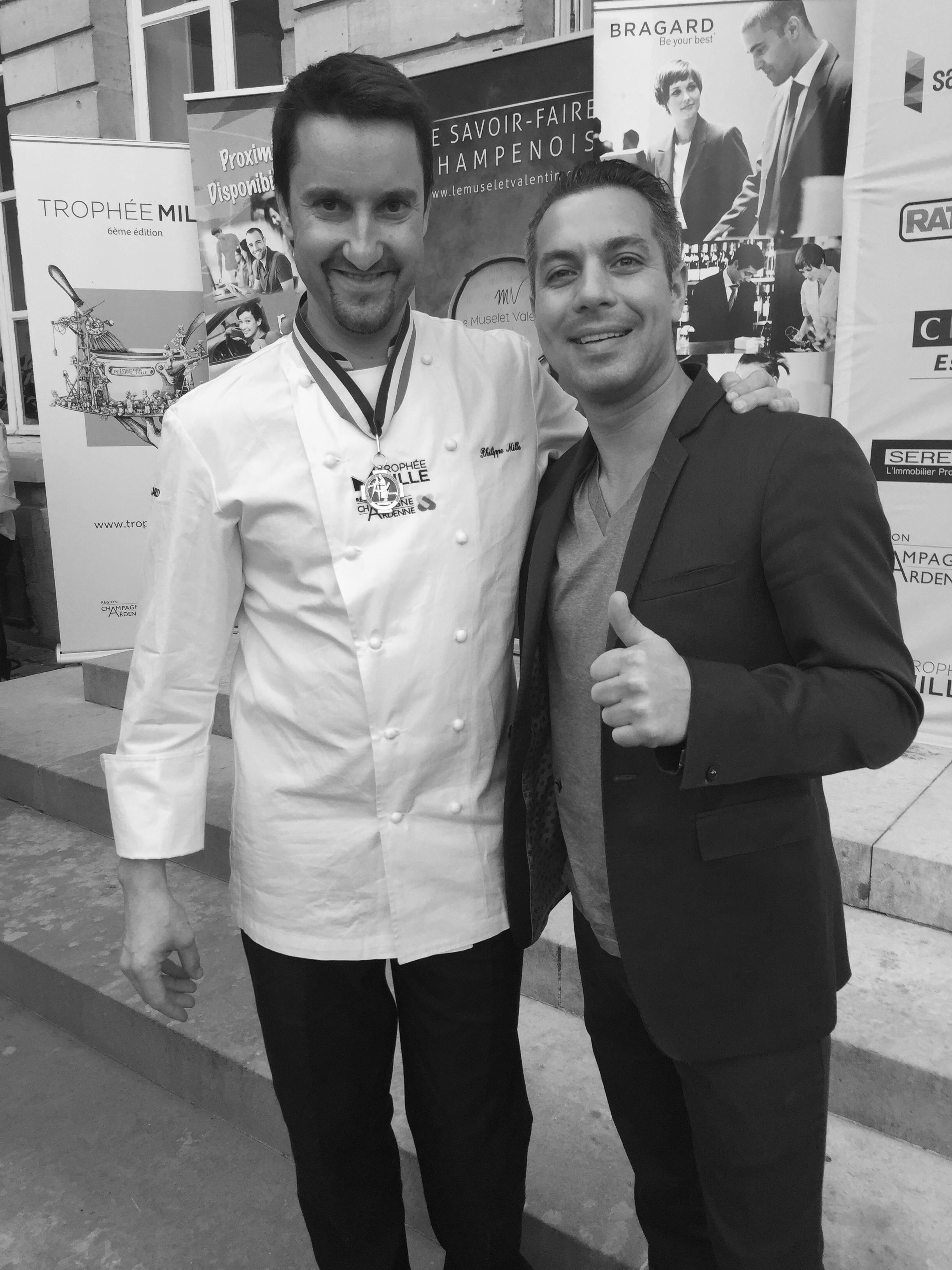 Avec Philippe Mille, meilleur ouvrier de France et Chef 2 étoiles des Crayères.