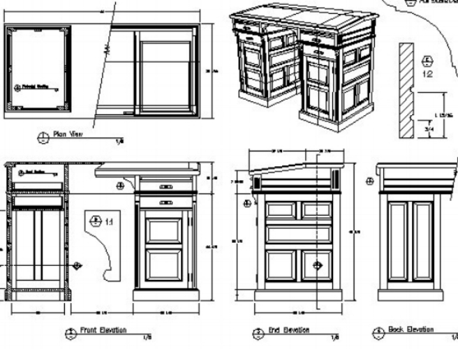 Stage Two     Design Consultation - Conceptual Design    Once you are happy to go ahead to the design phase, we charge a design fee and carry out a full in depth design consultation. We then draw up initial kitchen plans and elevations, using use a full architectural CAD package and invite you back into the showroom for a presentation and further discussion.