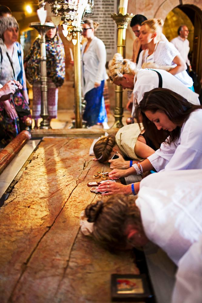 The Stone of Anointing- Church of the Holy Sepulchre - Jerusalem