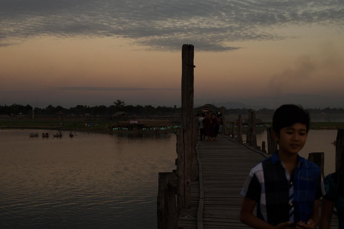 U-Bein Bridge - Mandalay - Burma