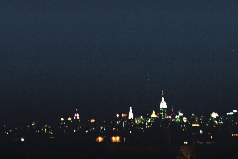 Looking over Manhattan.