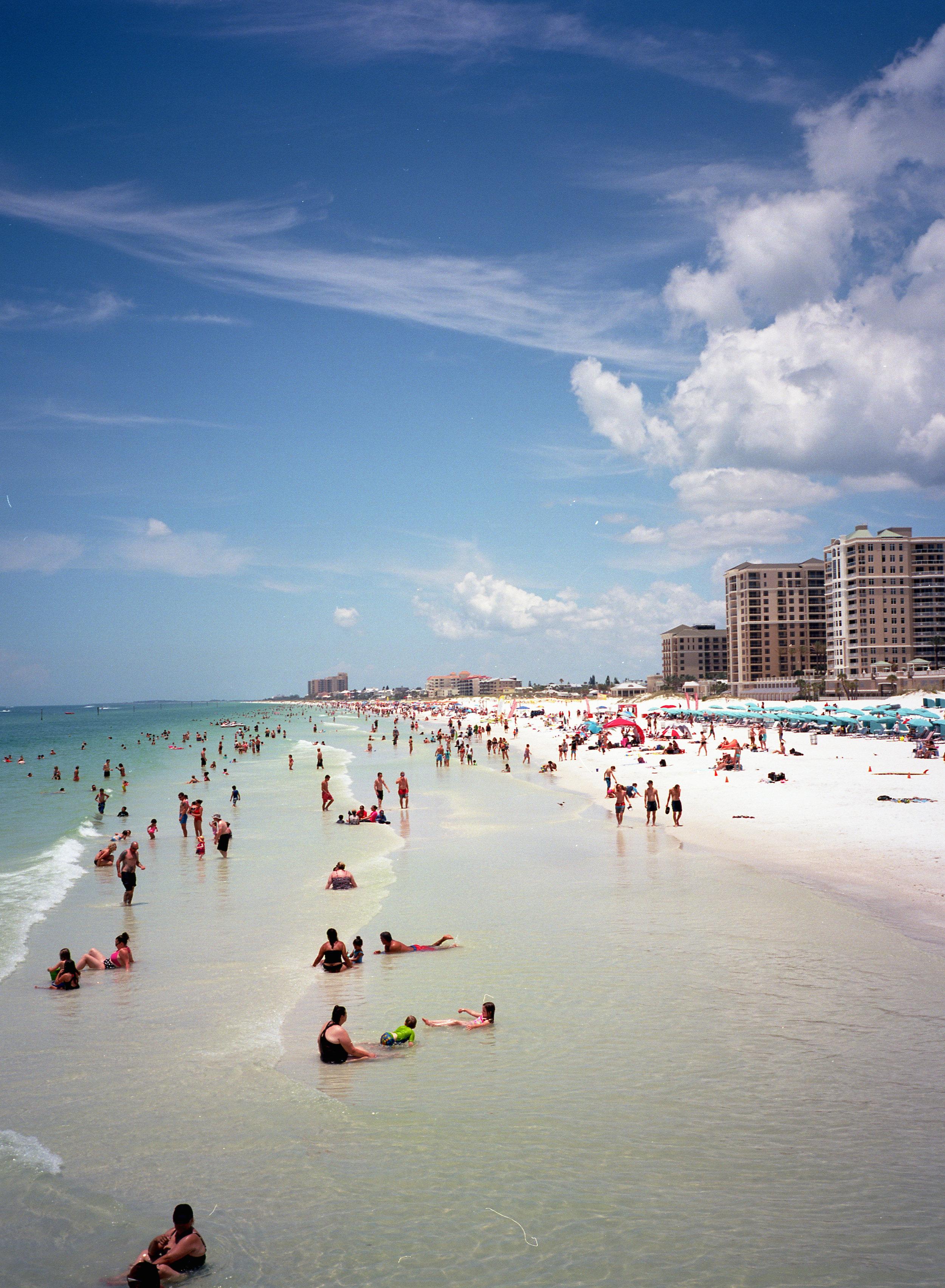 初めて行ったフロリダはタンパのClear Water Beach.