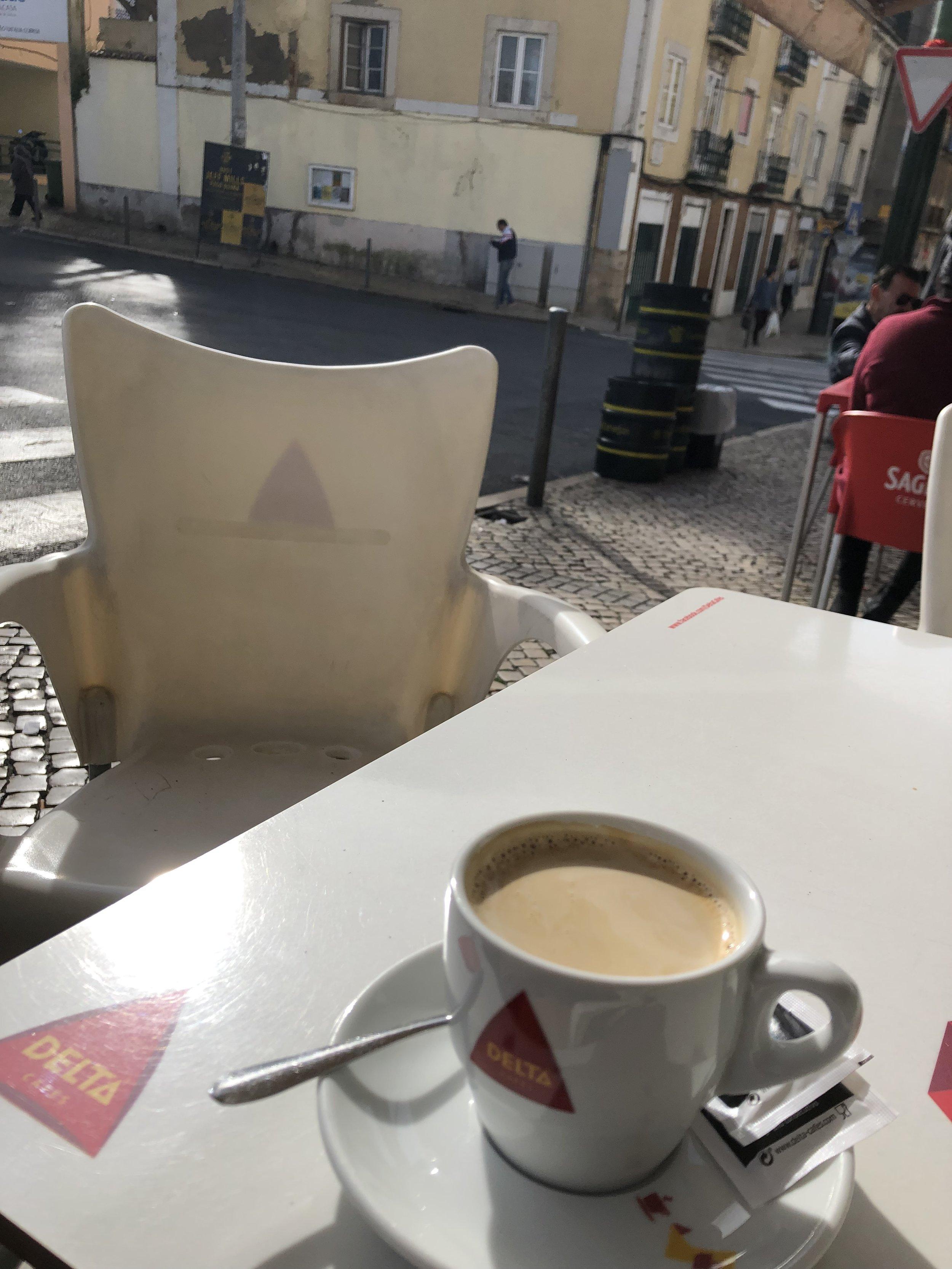 Lisbonで最後のコーヒー 1€