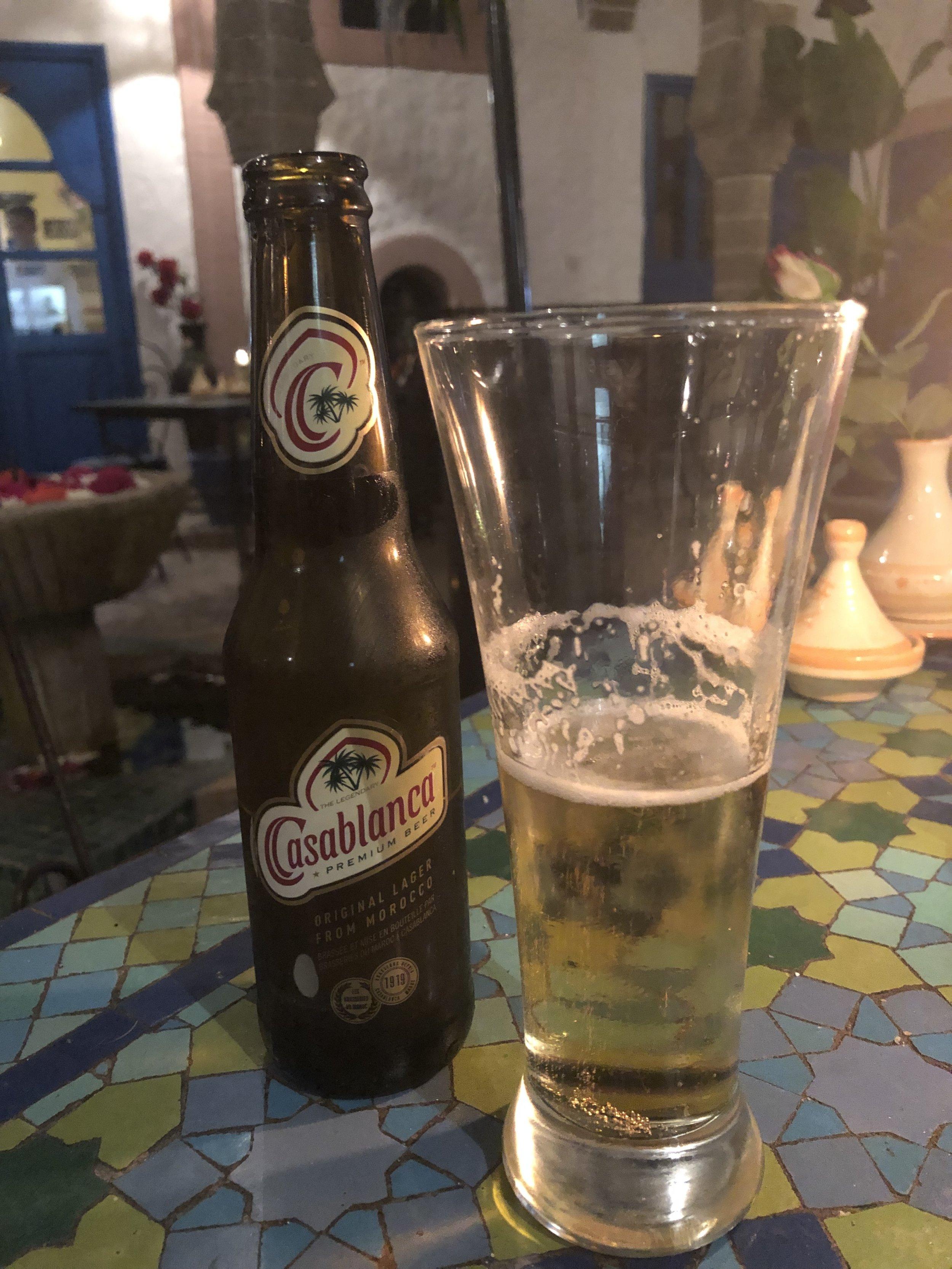 40dhm 500円くらいかな。 飲みやすいビール。 久しぶりのお酒。