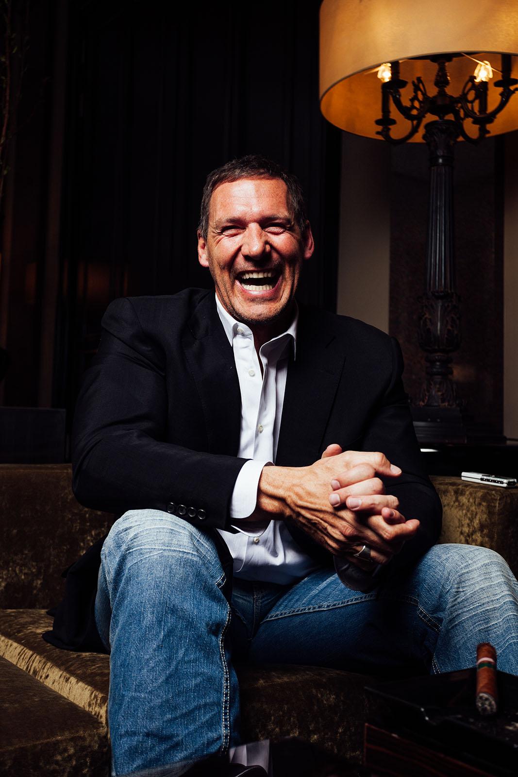 Portraits des Schauspielers Ralf Möller während eines Interviews im berliner Hotel de Rome.
