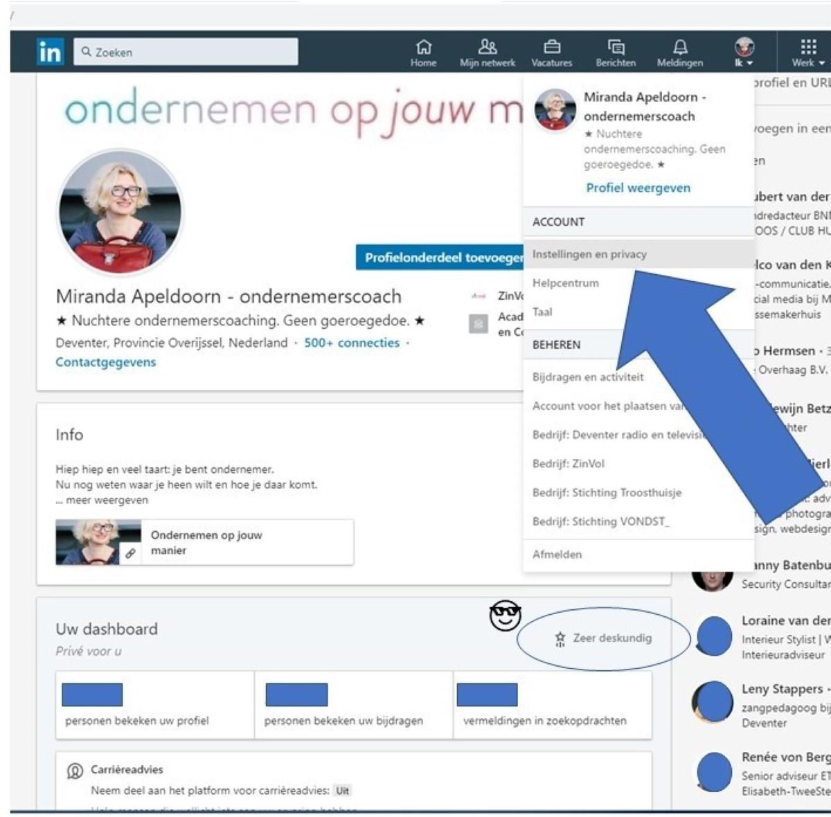 Blog: Zo kent LinkedIn geen geheimen meer voor je. Copyright: ZinVol (www.ditiszinvol.nl)