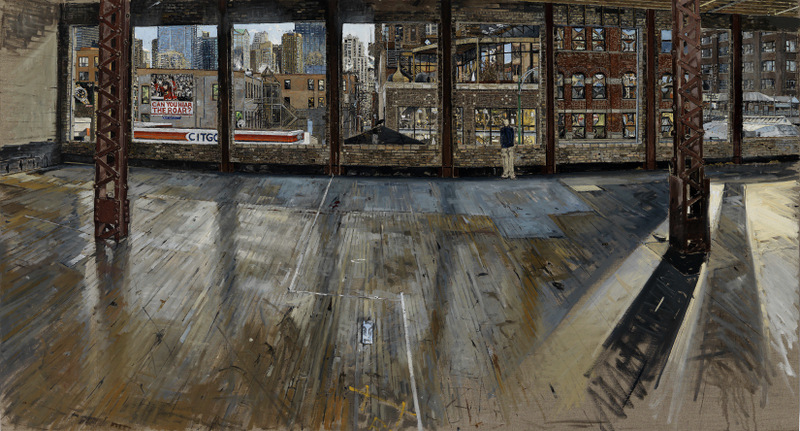210 CHICAGO AVE, PRIOR TO RENOVATION, OIL ON LINEN, 32X49'', 2010