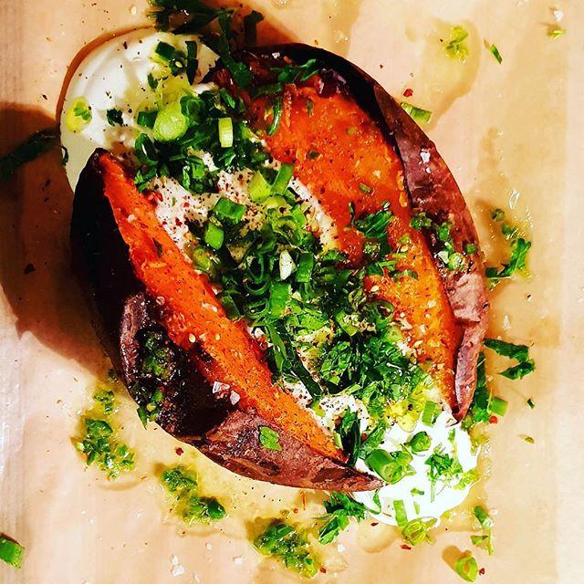 Sweet potatoes for sweet weather! #saulsparis #chef Antoine Rosenberg #paris