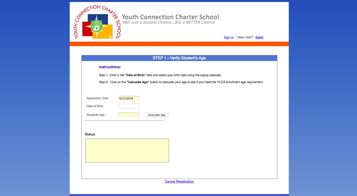Online Enrollment Screenshot 2
