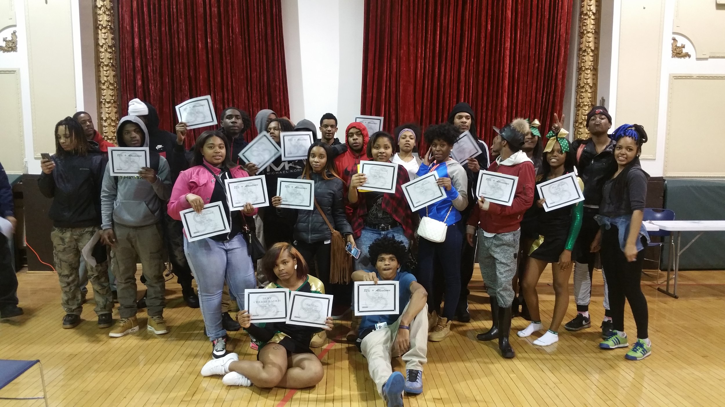 Community Youth Development Institute Students With Certificates