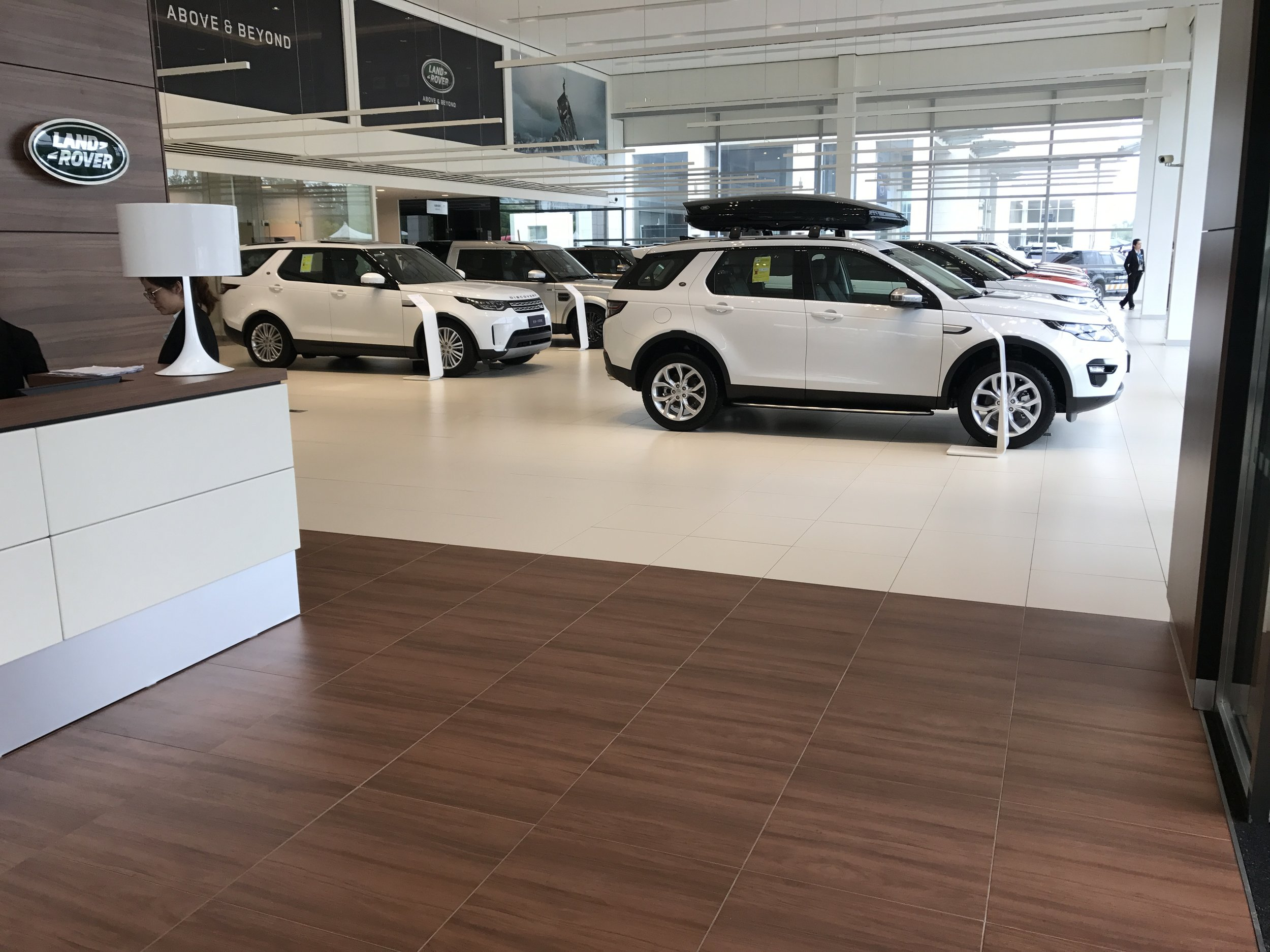 Jaguar Land Rover showroom refurbishment (Shanghai)