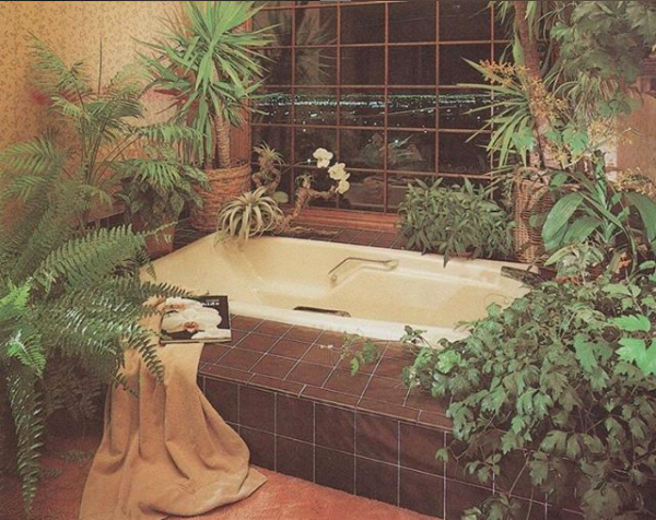 "From ""Rodale's Home Design Series, Baths 1987"", in courtesy of @the_80s_interior (Instagram)"