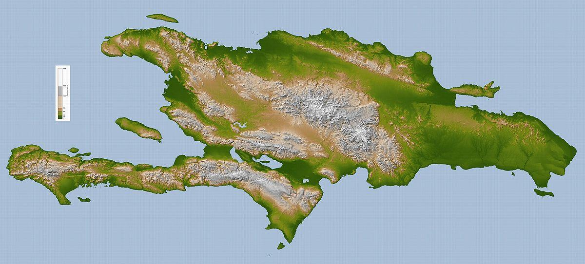 Hispaniola - (Dominican Republic and Haiti)Map Credit: https://simple.wikipedia.org/wiki/Hispaniola