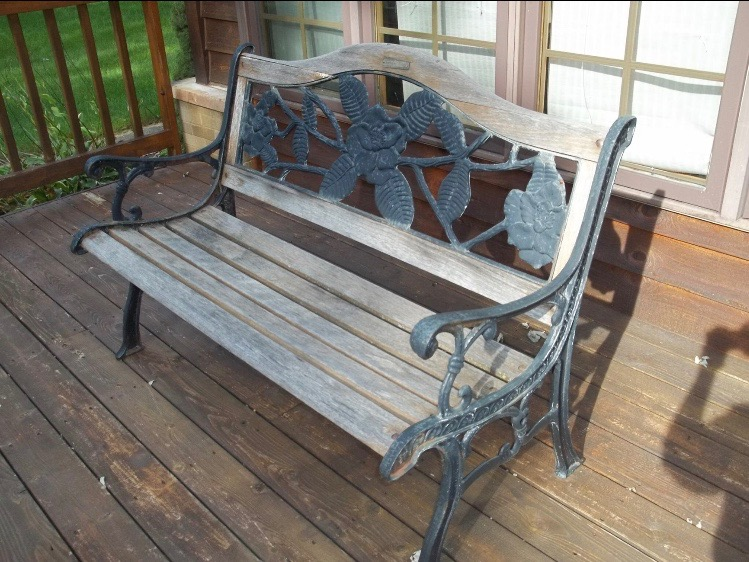 """The bench, """"before"""" shot."""