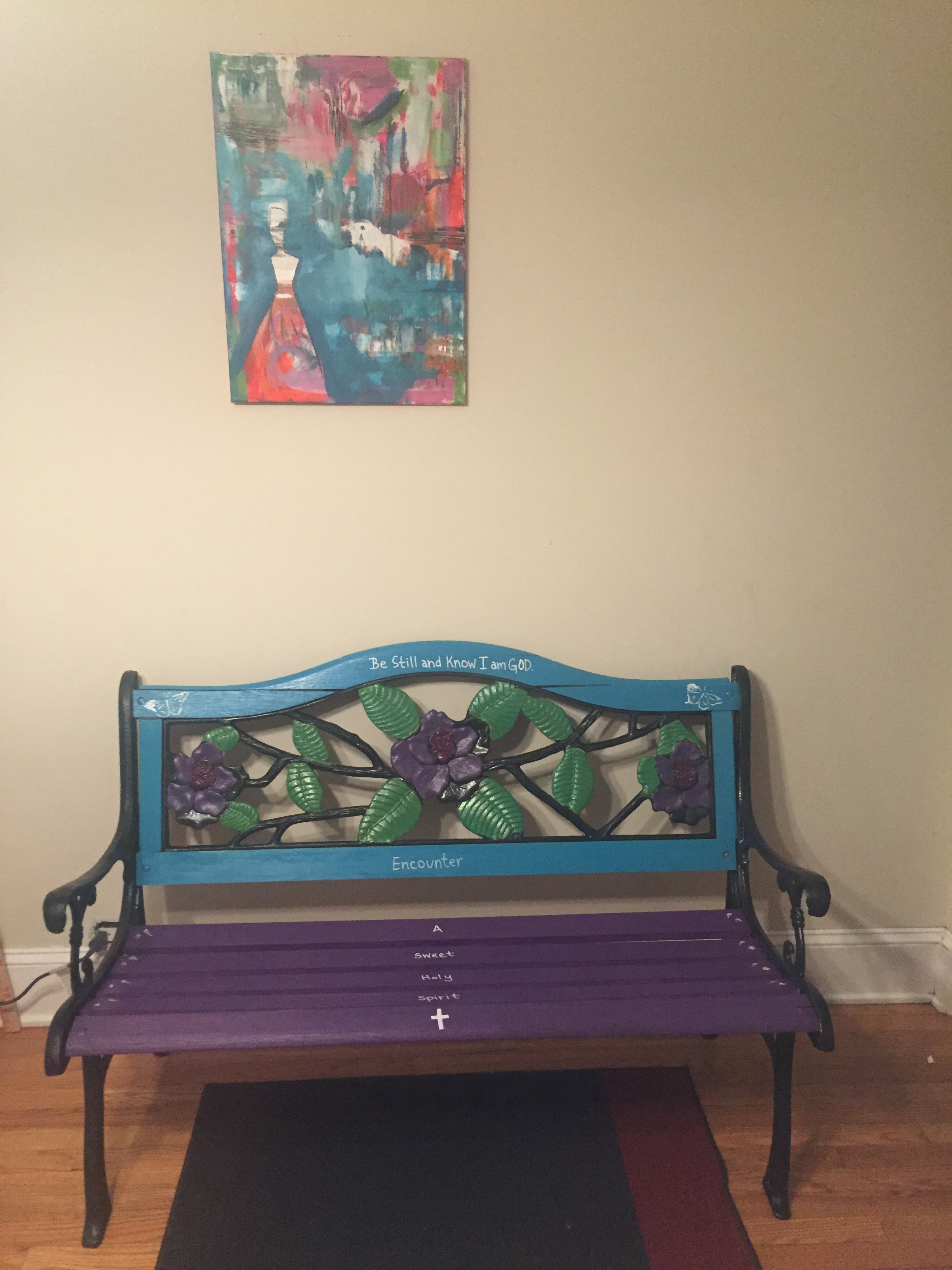 Prayer Bench and a painting I did earlier this year.