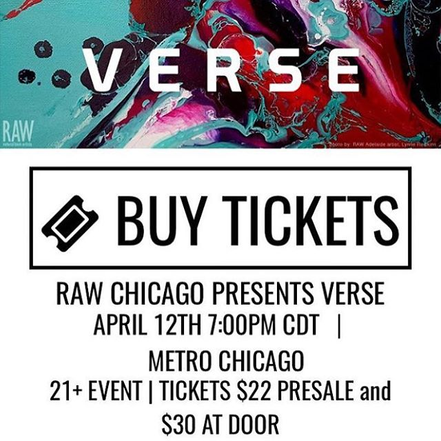 You won't wanna miss this night of live music, runway fashion show, 🍸🍹, and Artists of all other mediums! Just head on over to www.rawartists.org/chicago/verse for tickets! I hope to see you there!!