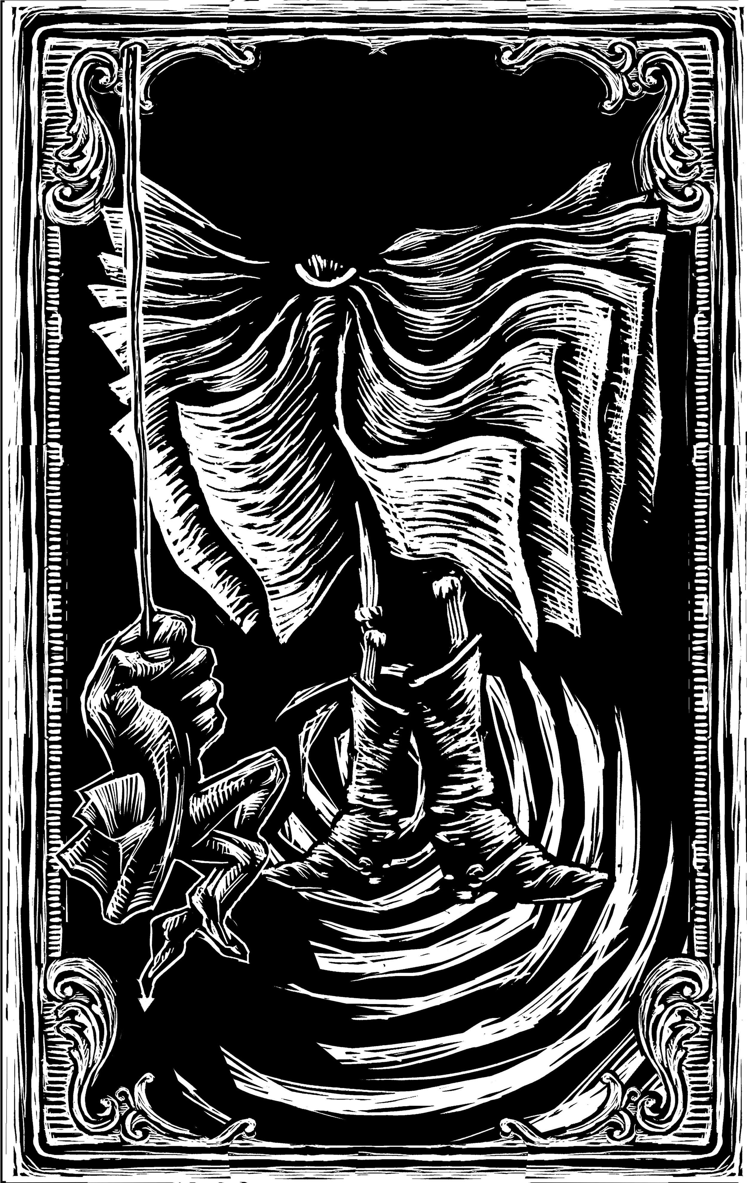 Don Quixote descends into Montesinos's cave